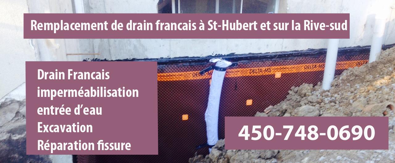 drain francais st hubert r paration pose et installation de drain francais. Black Bedroom Furniture Sets. Home Design Ideas