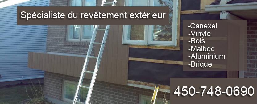 Revetement ext rieur brossard pose r paration et for Peinture revetement exterieur en aluminium